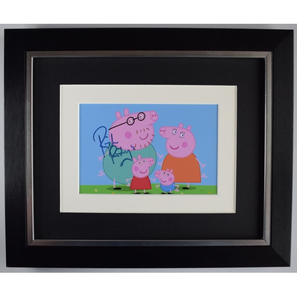 Rich Ridings Signed 10x8 Framed Autograph Photo Display Peppa Pig TV COA Perfect Gift Memorabilia