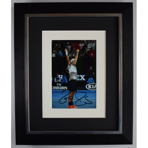 Roger Federer Signed 10x8 Framed Autograph Photo Display Tennis Sport AFTAL COA  Perfect Gift Memorabilia
