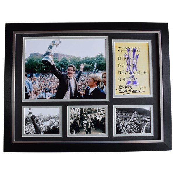 Bob Moncur Signed Autograph 16x12 framed photo display Newcastle Fairs Cup 1969 Perfect Gift Memorabilia