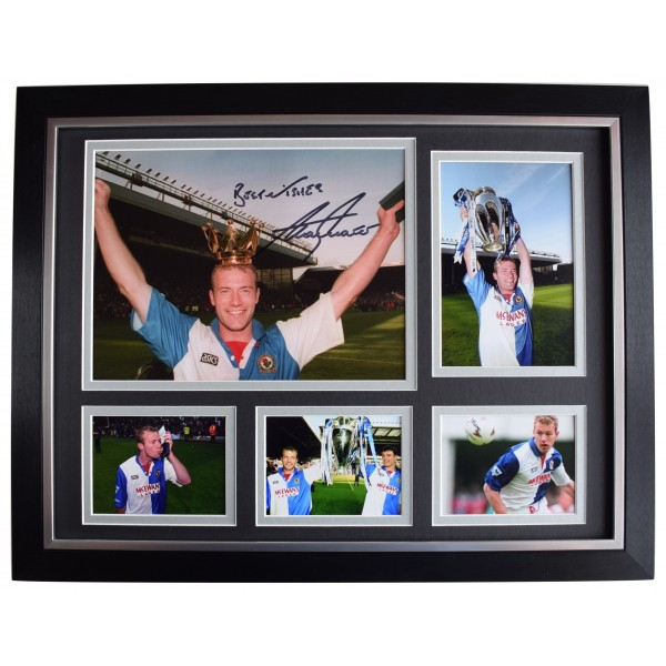 Alan Shearer Signed Autograph 16x12 framed photo display Blackburn Champions '95  Perfect Gift Memorabilia