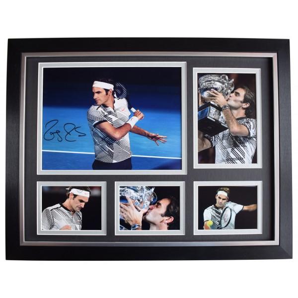 Roger Federer Signed Autograph 16x12 framed photo display Tennis Sport AFTAL COA Perfect Gift Memorabilia