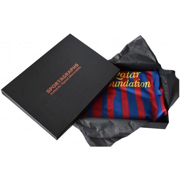 Phillip Cocu Signed Shirt New BNWT Autograph Barcelona Gift Box AFTAL COA Perfect Gift Memorabilia