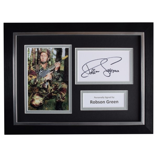 Robson Green A4 Framed Autograph Photo Display Soldier, Soldier, TV COA  Perfect Gift Memorabilia