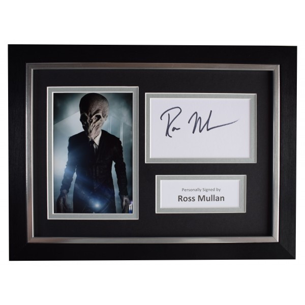Ross Mullan Signed A4 Framed Autograph Photo Display Doctor Who TV COA Perfect Gift Memorabilia