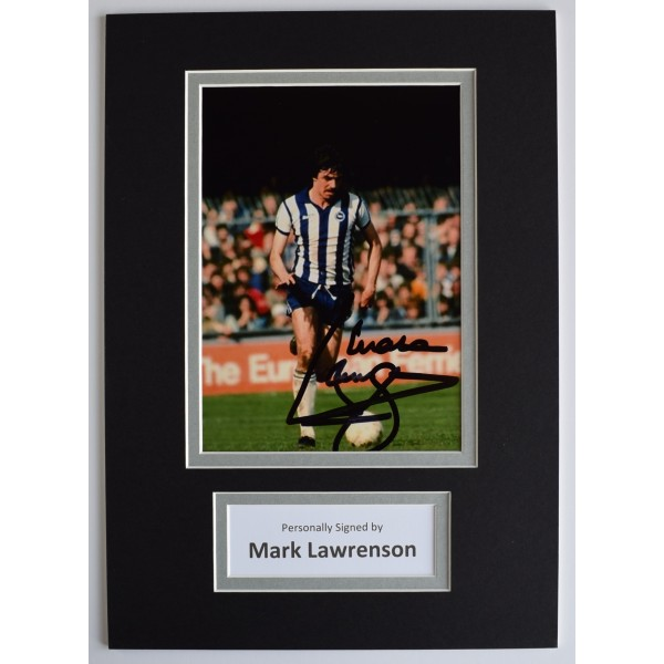 Mark Lawrenson Signed Autograph A4 photo display Brighton Football AFTAL COA Perfect Gift Memorabilia