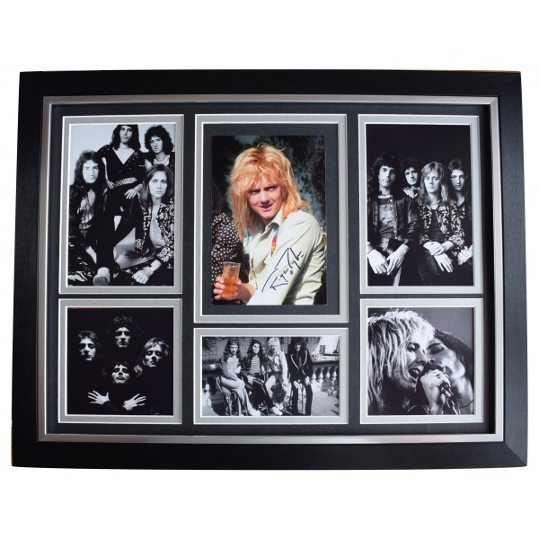 Roger Taylor Signed Autograph 16x12 framed photo display Queen Music AFTAL COA Perfect Gift Memorabilia