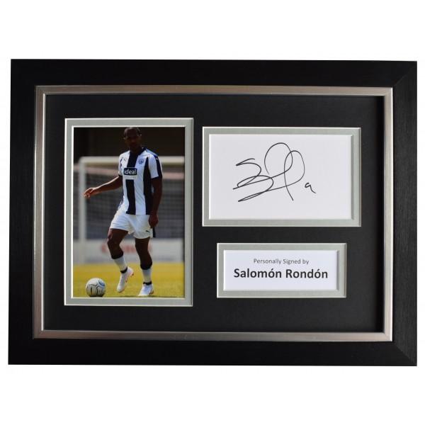 Salomon Rondon Signed A4 Framed Autograph Photo Display West Bromwich Albion COA Perfect Gift Memorabilia