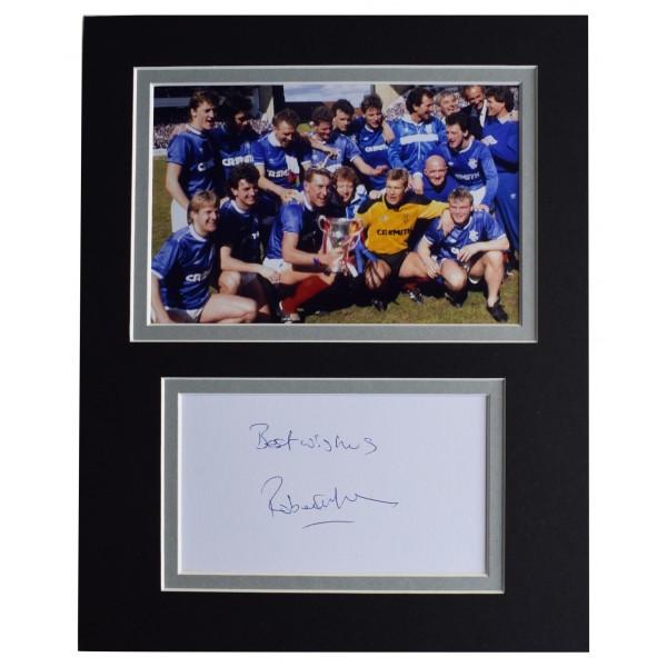 Robert Fleck Signed Autograph 10x8 photo display Rangers Football AFTAL COA  Perfect Gift Memorabilia