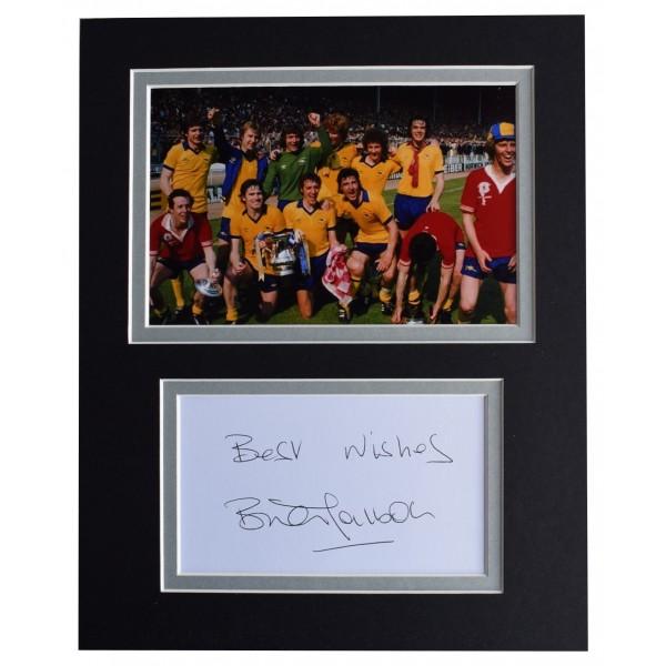 Brian Talbot Signed Autograph 10x8 photo display Arsenal Football AFTAL COA Perfect Gift Memorabilia