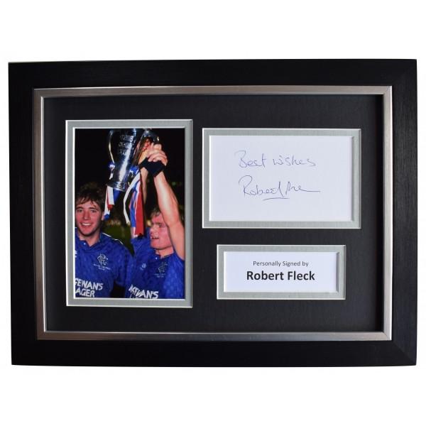 Robert Fleck Signed A4 Framed Autograph Photo Display Rangers Football AFTAL COA Perfect Gift Memorabilia