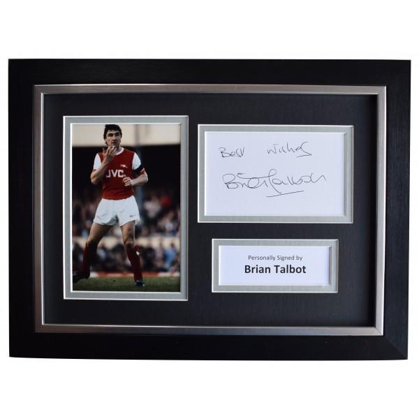 Brian Talbot Signed A4 Framed Autograph Photo Display Arsenal Football AFTAL COA Perfect Gift Memorabilia
