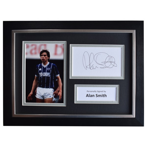 Alan Smith Signed A4 Framed Autograph Photo Display Leicester City AFTAL COA Perfect Gift Memorabilia