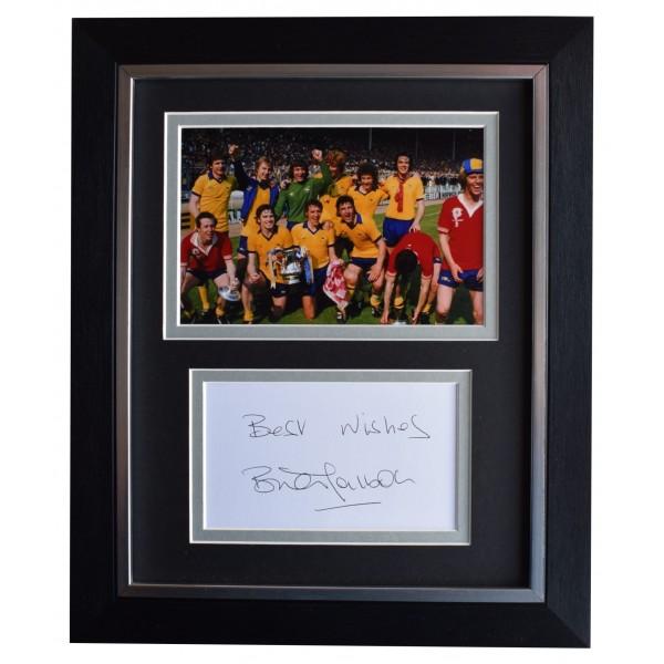 Brian Talbot Signed 10x8 Framed Autograph Photo Display Arsenal Football COA Perfect Gift Memorabilia