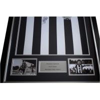 Kevin Keegan Signed Framed Football Shirt Autograph Newcastle United AFTAL COA Perfect Gift Memorabilia