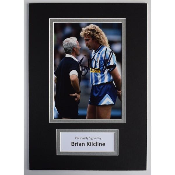 Brian Kilcline Signed Autograph A4 photo display Coventry City Football & COA AFTAL Perfect Gift Memorabilia