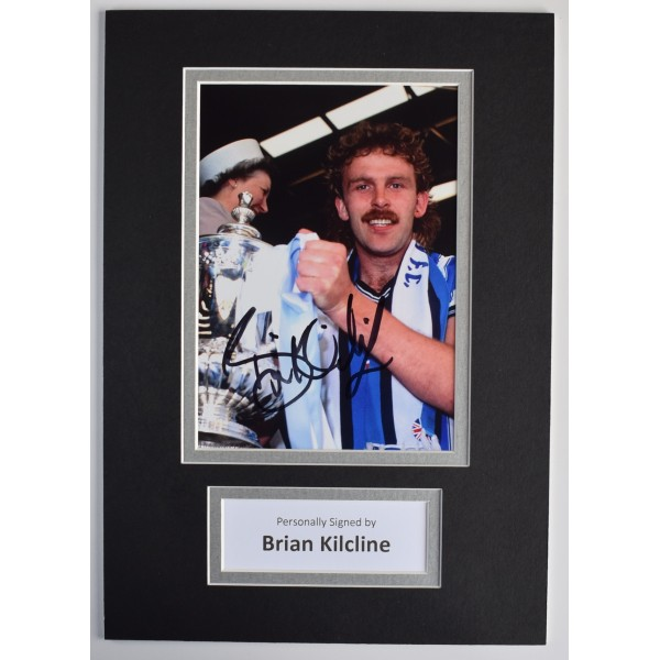 Brian Kilcline Signed Autograph A4 photo display Coventry City Football COA AFTAL Perfect Gift Memorabilia
