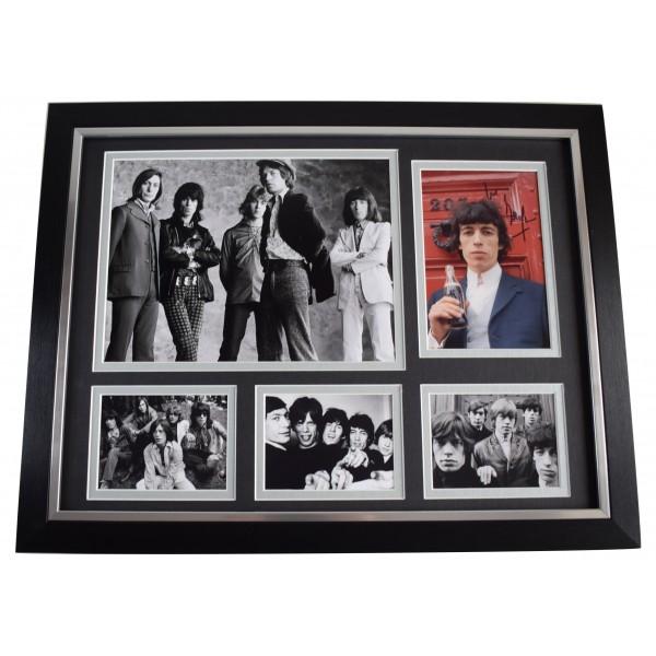 Bill Wyman Signed Autograph framed 16x12 photo display Rolling Stones Music COA AFTAL Perfect Gift Memorabilia