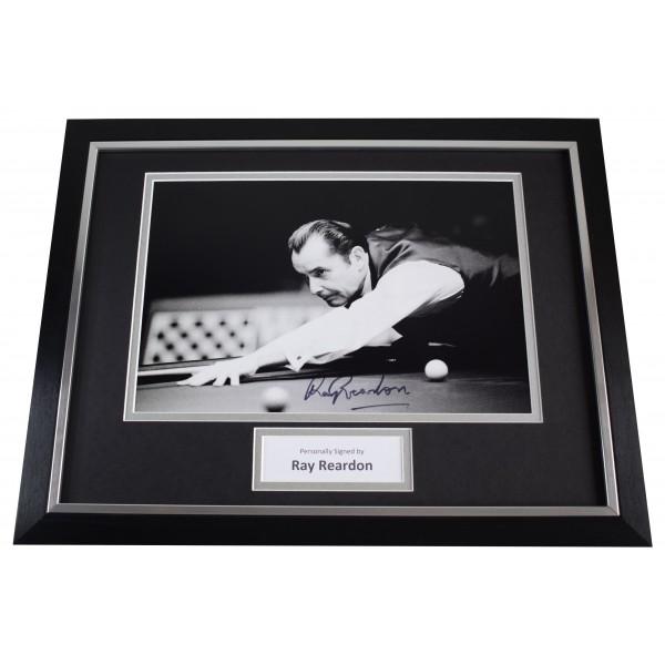 Ray Reardon Signed Autograph framed 16x12 photo display Snooker AFTAL Sport COA Perfect Gift Memorabilia