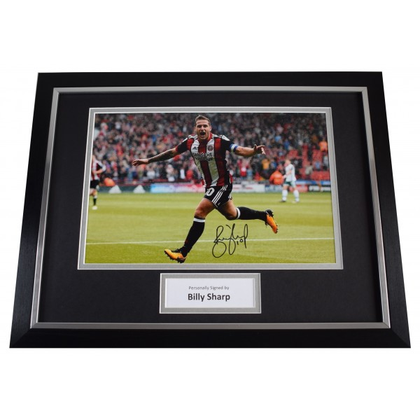 Billy Sharp Signed Autograph framed 16x12 photo display Sheffield Utd AFTAL COA Perfect Gift Memorabilia