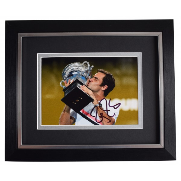 Roger Federer Signed 10x8 Framed Photo Autograph Display Tennis Open AFTAL COA Perfect Gift Memorabilia