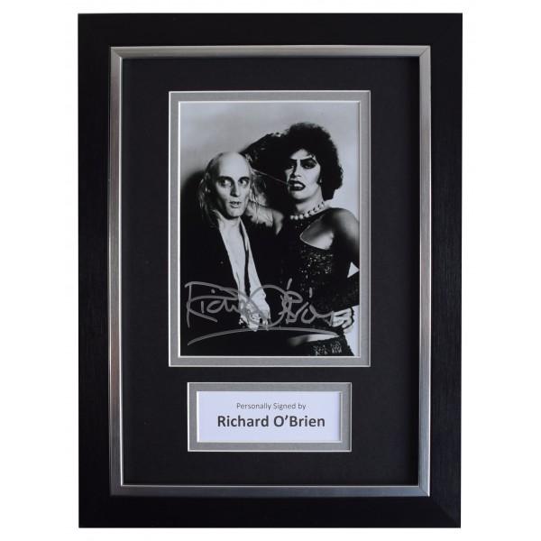 Richard O'Brien Signed A4 Framed Autograph Photo Display Rocky Horror Show COA AFTAL Perfect Gift Memorabilia
