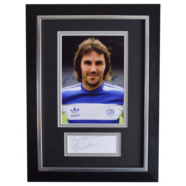 Gerry Francis Signed A4 Framed Autograph Photo Display Queens Park Rangers COA AFTAL Perfect Gift Memorabilia