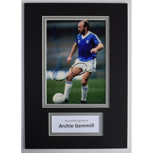 Archie Gemmill Signed Autograph A4 photo display Birmingham City AFTAL COA Perfect Gift Memorabilia