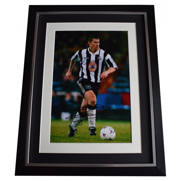 Rob Lee Signed Autograph 16x12 framed photo display Newcastle Football COA Perfect Gift Memorabilia
