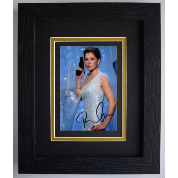 Rosamund Pike Signed 10x8 Framed Autograph Photo Display James Bond AFTAL COA Perfect Gift Memorabilia