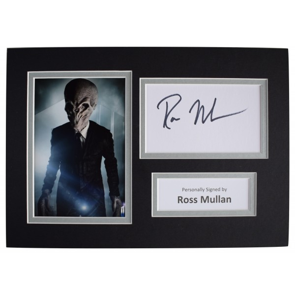 Ross Mullan Signed Autograph A4 photo display Doctor Who TV AFTAL COA Perfect Gift Memorabilia