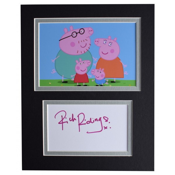 Rich Ridings Signed Autograph 10x8 photo display TV Daddy Peppa Pig AFTAL COA Perfect Gift Memorabilia