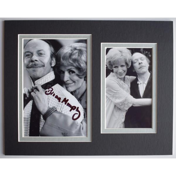 Brian Murphy Signed Autograph 10x8 photo display TV George & Mildred AFTAL COA  Perfect Gift Memorabilia