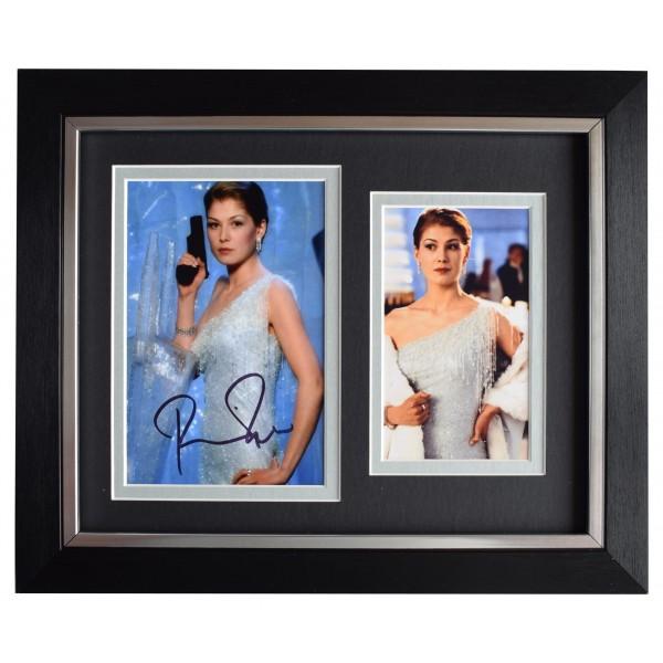 Rosamund Pike Signed 10x8 Framed Autograph Photo Display James Bond 007 Film COA Perfect Gift Memorabilia