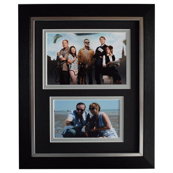 Ricky Gervais Signed 10x8 Framed Autograph Photo Display Afterlife Netflix COA Perfect Gift Memorabilia
