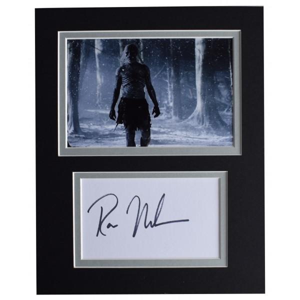 Ross Mullan Signed Autograph 10x8 photo display Game of Thrones TV AFTAL & COA Perfect Gift Memorabilia