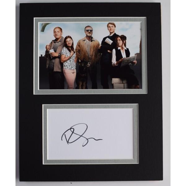 Ricky Gervais Signed Autograph 10x8 photo display TV Afterlife Netflix AFTAL COA Perfect Gift Memorabilia
