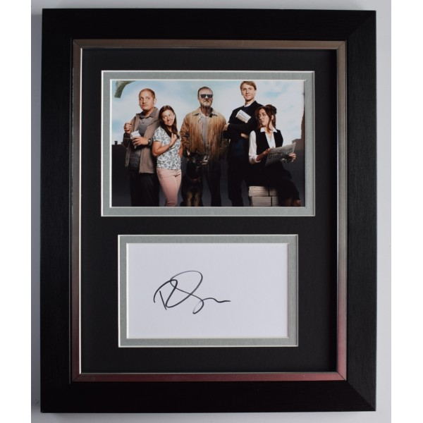 Ricky Gervais Signed 10x8 Framed Autograph Photo Display Afterlife TV AFTAL COA Perfect Gift Memorabilia