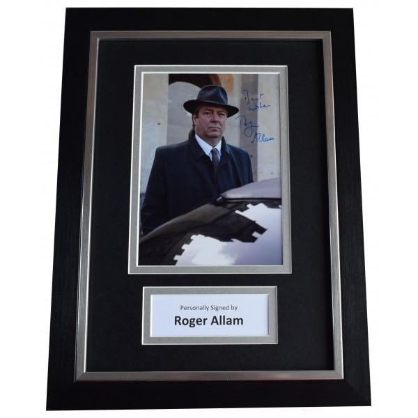 Roger Allam Signed A4 Framed Autograph Photo Display TV Endeavour AFTAL COA Perfect Gift Memorabilia