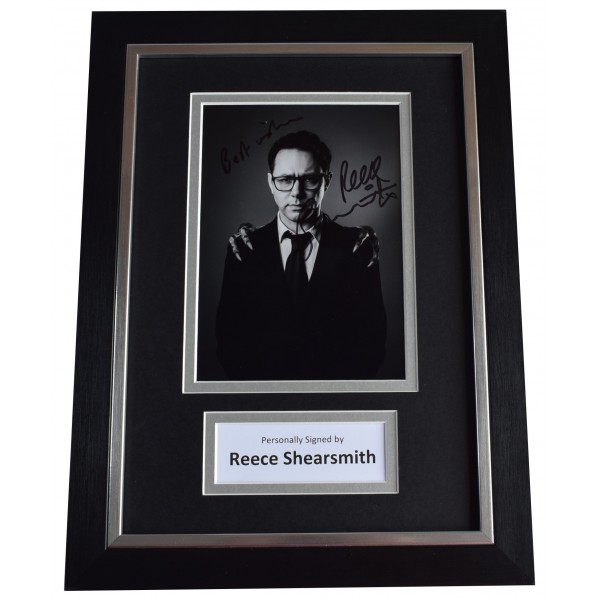 Reece Shearsmith Signed A4 Framed Autograph Photo Display TV Doctor Dr Who COA  Perfect Gift Memorabilia