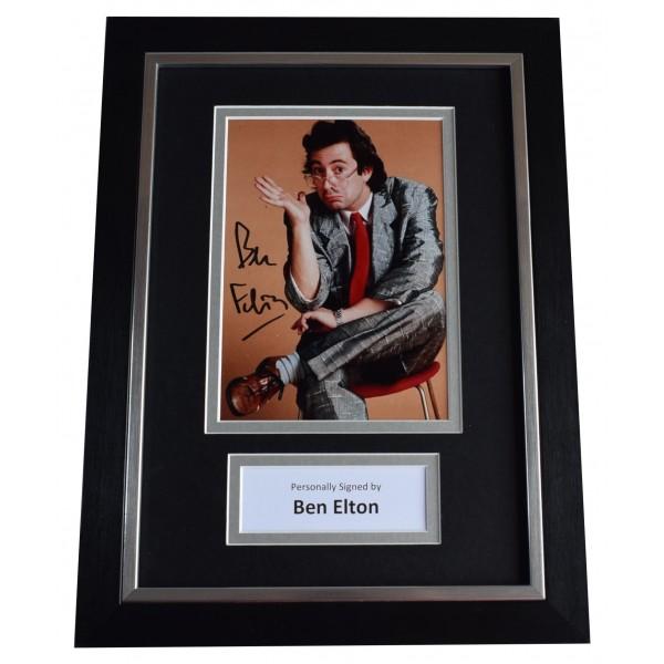 Ben Elton Signed A4 Framed Autograph Photo Display 80's Comedy TV Film AFTAL COA  Perfect Gift Memorabilia