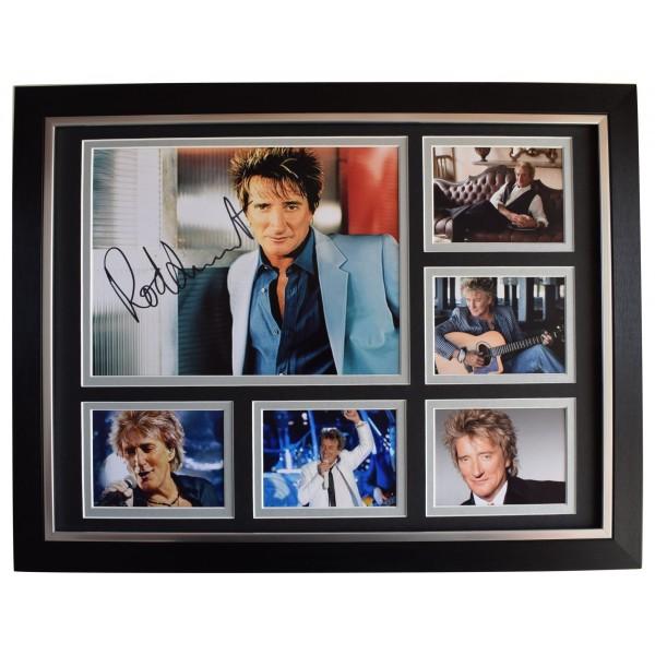 Rod Stewart Signed Autograph 16x12 framed photo display Sailing Music AFTAL COA Perfect Gift Memorabilia