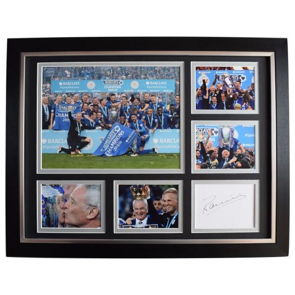 Claudio Ranieri Signed Autograph 16x12 framed photo display Leicester City COA Perfect Gift Memorabilia