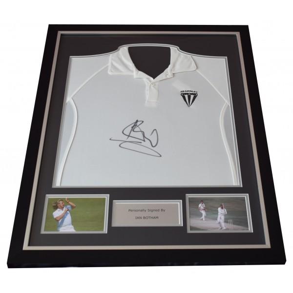 Ian Botham Signed Framed Cricket Shirt Autograph England Ashes AFTAL COA AFTAL Perfect Gift Memorabilia