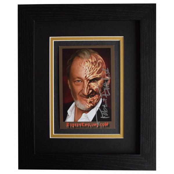 Robert Englund Signed 10x8 Framed Photo Autograph Display Nightmare Elm Street AFTAL Perfect Gift Memorabilia