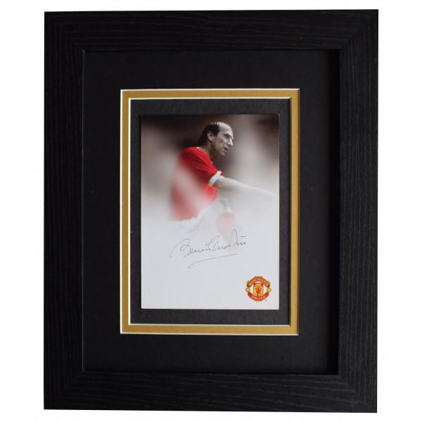 Bobby Charlton Signed 10x8 Framed Photo Autograph Display Man United AFTAL COA Perfect Gift Memorabilia