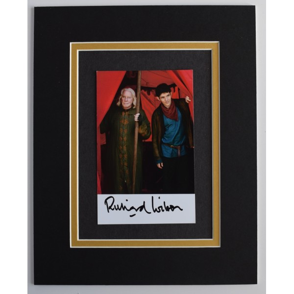 Richard Wilson Signed Autograph 10x8 photo mount display TV Merlin AFTAL COA Perfect Gift Memorabilia