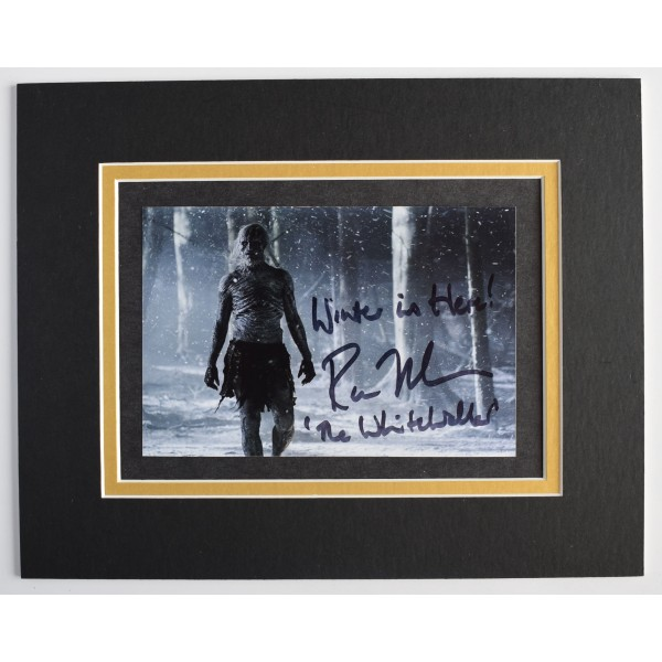 Ross Mullan Signed Autograph 10x8 photo display TV game of Thrones Inscription AFTAL Perfect Gift Memorabilia