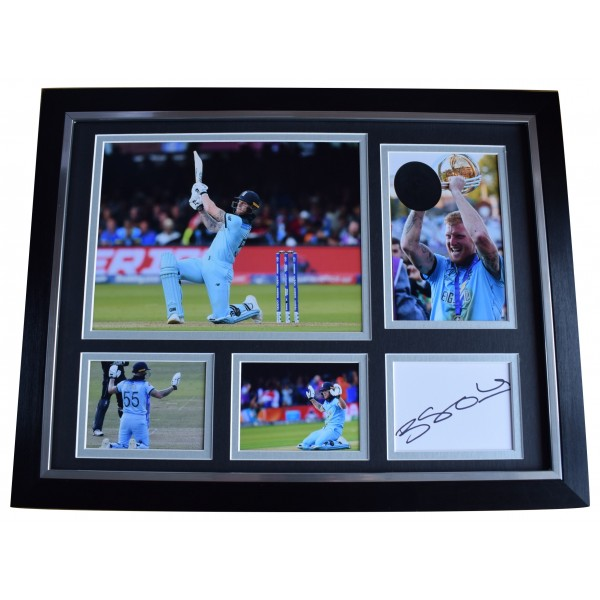 Ben Stokes Signed Autograph framed 16x12 photo display England Cricket World Cup AFTAL Perfect Gift Memorabilia