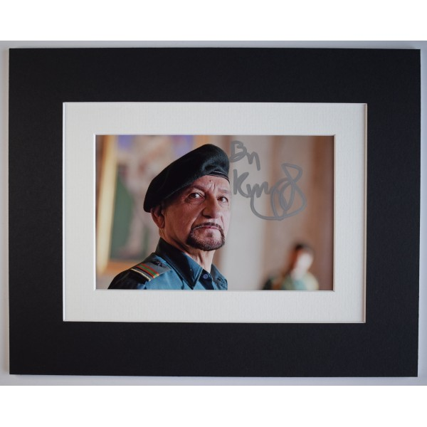 Ben Kingsley Signed Autograph 10x8 photo display Actor Film Legend AFTAL Perfect Gift Memorabilia