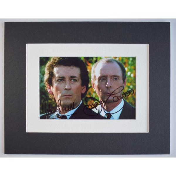 Robert Powell Jasper Carrott Signed Autograph 10x8 photo display Detectives TV AFTAL Perfect Gift Memorabilia